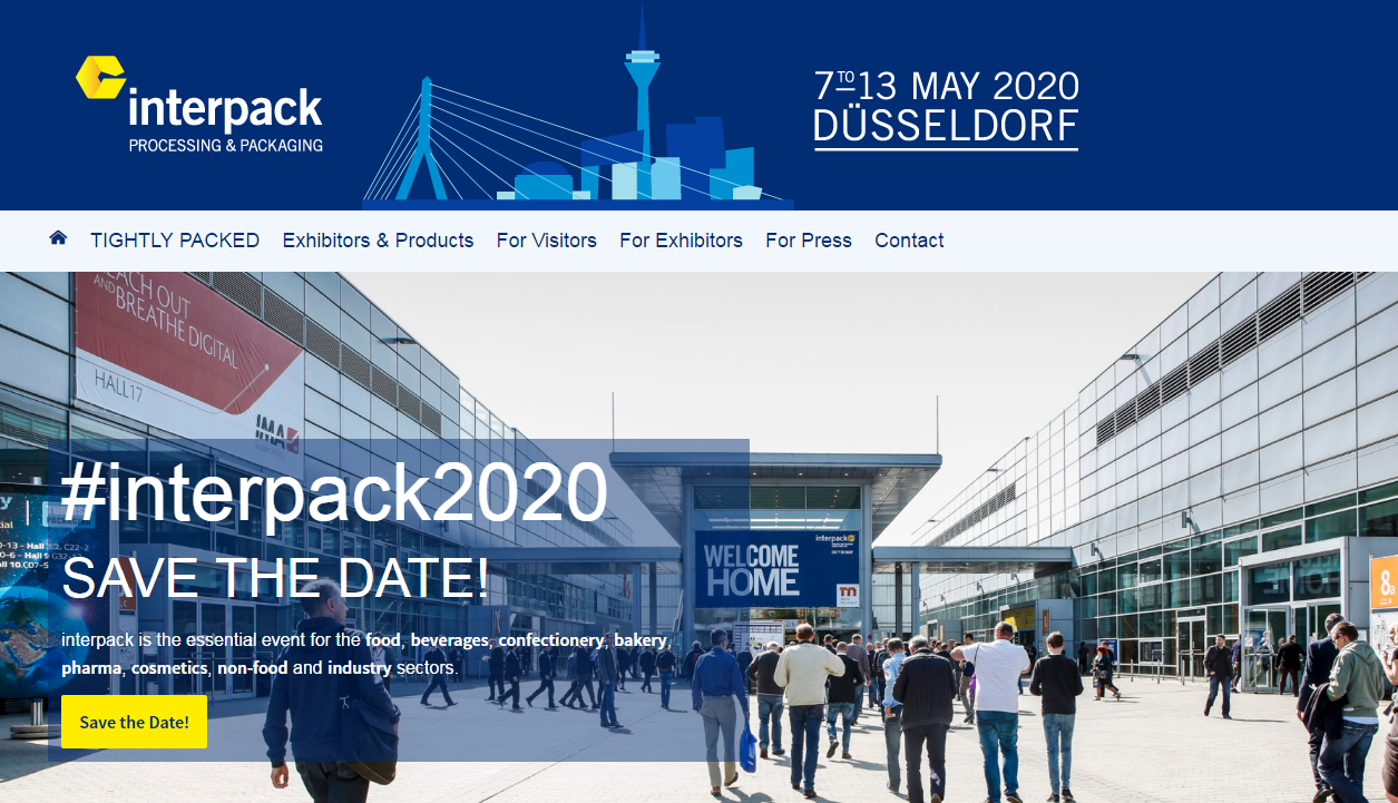 Duitsland Interpack 2020-tentoonstelling