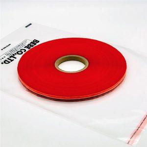 Hersluitbare afdichtband van plastic zak